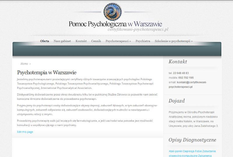 Psychoterapeuci wWarszawie